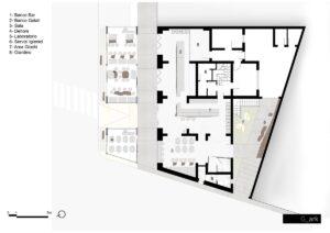 progetto architettura piantina